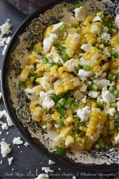 Honey & Lime Corn Salad with Queso Fresco - Faith, Hope, Love, & Luck Survive Despite a Whiskered Accomplice Corn Salad Recipes, Corn Salads, Spicy Honey, Sweet And Spicy, Roasted Corn Salad, Queso Fresco Cheese, Mexican Street Corn Salad, Goat Cheese Recipes, Creamy Corn