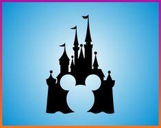 Disney Castle Mickey SVG Mickey Head Icon Disney SVG Mickey Mouse transfer - Disney Family - Disney Castle Poster - Logo Mickey Vector