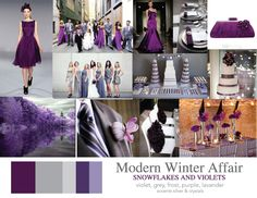 purple and gray wedding