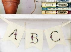 Exclusive Secret Garden book and kit bundle - Arbour Alphabet Bunting by What Delilah Did