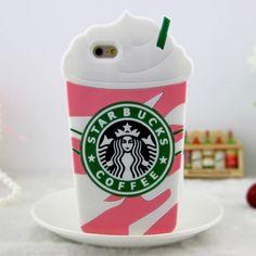 Starbucks pink iphone case - Coque iphone milkshake fraise rose
