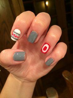 OSU block O nails