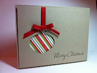 Cute and easy ornament card