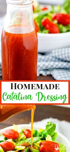 Homemade Catalina Salad Dressing: A creamy, zesty salad dressing with a bit of tang. It's perfect over taco salad, avocados, veggies, as a dip or even as a marinade for chicken. Catalina Dressing Recipes, Catalina Salad Dressing, Salad Dressing Recipes, Dressing For Taco Salad, Creamy Salad Dressing, Mexican Salad Dressings, Sauce Recipes, Cooking Recipes, Homemade Dressing