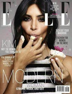 Kim Kardashian  covers South Africa Elle MARCH 2015