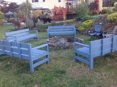 Firepit benches | Do It Yourself Home Projects from Ana White