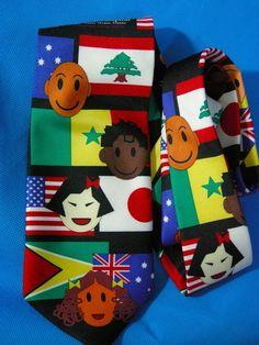 """Flags Kids International St Jude Children's Hospital 56"""" Polyester Necktie Tie #StJudeChildrensResearchHospital #NeckTie"""