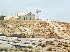 "John Meyer (SA 1944 - 3 x Reproductions, ""Wilgeboschkoppie"" ""Karooveld"" & ""Nieu Bethesda"" Alex Colville, Carl Larsson, Andrew Wyeth, John Meyer, Bo Bartlett, South African Artists, Air Brush Painting, 5th Avenue, Landscape Paintings"
