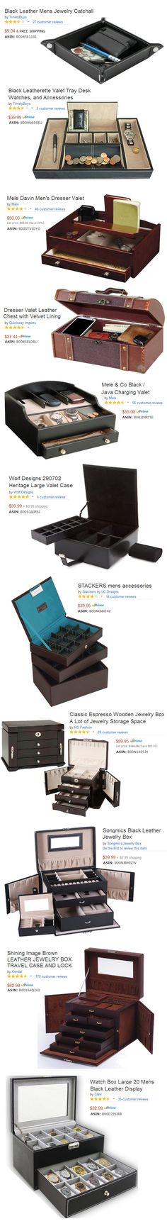 ► ► Get Organized with a Mens Valet or Jewelry Box Organizer!
