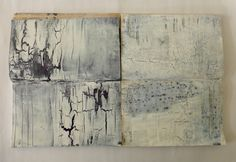 stories with cracks. acrylics on books. Ines Seidel