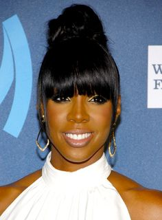 ponytails and buns for african american women | pr photos photo 1 of 84 kelly rowland s chic black updo hairstyle with ...