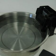 Want a filtered pet fountain, but want to cut costs? Here are great instructions complete with photos on how to make your own filtering pet fountain. Dog Fountain, Tabletop Water Fountain, Living With Cats, Cat Carrier, Animal Projects, Art Projects, Pet Bowls, Diy Stuffed Animals, Fish Tank
