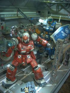 MG Guncannon and Powered GM: Core Defenders - Diorama Build Images via figure. Gunpla Custom, Custom Gundam, Gundam Wallpapers, Gundam Mobile Suit, Sci Fi Models, Robots For Kids, Hobby Toys, Gundam Art, Gundam Model