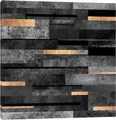Urban Black And Gold Canvas Print #ELF179