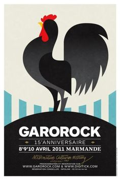 Garorock Poster by Funny Fun with Guillaume. Chicken Brands, Chicken Logo, Chicken Art, Anne Ma Soeur Anne, Rooster Logo, Lion Dragon, Black Rooster, Chickens And Roosters, Galo