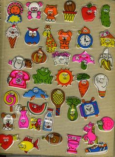 Puffy stickers in your sticker album ~When you tried to trade only the puffy part would come off and you'd have to glue or tape it back down!