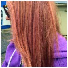 Red hair with pink highlights