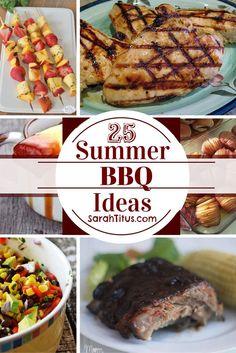 25 Summer BBQ Ideas #bbqrecipes
