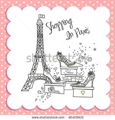 Shopping in Paris - stock vector id 46429933
