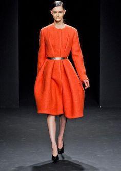 Olivia Wilde wearing Calvin Klein Fall 2012 Rtw Coat.