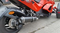 Can-Am Spyder Stainless black oval Carbon outlet ROAD LEGAL MTC Exhaust #MaxTorqueCans