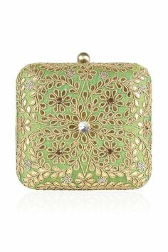 d8ac00be9a Clutch It! Inayat Heritage s statement wedding clutch with pale gold floral  motifs
