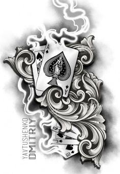 best Ideas for tattoo sleeve nautical art - Tattoo Style - Dope Tattoos, Forarm Tattoos, Forearm Tattoo Men, Tattoos For Guys, Card Tattoo Designs, Half Sleeve Tattoos Designs, Arm Sleeve Tattoos, Tattoo Designs Men, Tattoo Sleves