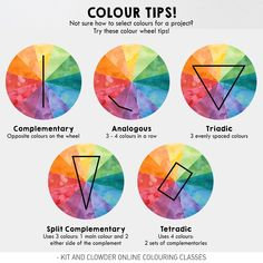 """462 Likes, 11 Comments - Kit and Clowder (Alyce) (@kitandclowder) on Instagram: """"Do you struggle with picking colour blends for a particular project? Try using Colour Wheel Schemes…"""""""