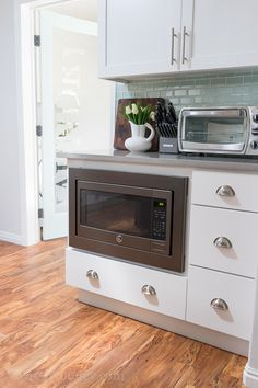 Under Counter Microwave, Perfect For Kidu0027s Use, With A Drawer Stashed Full  Of Snacks For The Kids!