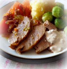 Braised Beef Brisket with Carrotsfrom The English Kitchen