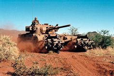 The Olifant was a modified British Centurion from derived from the interim Skokiaan developed by ARMSCOR. South African Air Force, Sniper Training, Army Day, Defence Force, Armored Fighting Vehicle, Tactical Survival, Battle Tank, World Of Tanks, Boat Design