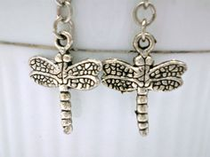 Dragonfly Dangle Earrings  Available at www.justByou.storenvy.com  #handmade #shopjustByou #earrings #dragonfly