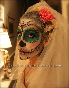 Awesome Homemade Dia De los Muertos Costume… Enter Coolest Halloween Costume Contest at http://ideas.coolest-homemade-costumes.com/submit/