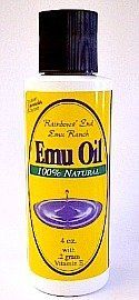 Raindows End Emu Ranch Emu Oil 100% Natural (4 oz.) by Rainbows End. Save 30 Off!. $15.37. Face and body moisturizer.. Cold sores, chapped lips, diaper rash, scars, psoriasis.. Cuts and abrasions, burns, sunburns, insect bites.. Arthritis pain and stiffness, muscle and joint pain, swelling from shingles.. Stretch marks, hair care, age spots.. Recommended use is 3 to 4 times daily or as needed (especially at bedtime). Shake well before each application. Remember a little goes a long way....