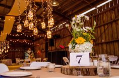 More table setup - centerpiece and wedding decorations