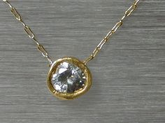 Gold necklace / Zircon necklace / 14k gold filled chain / simple necklace gold / Jewelry / Bridal