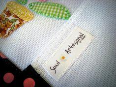 Detalhe - etiqueta homemade (pano de prato)