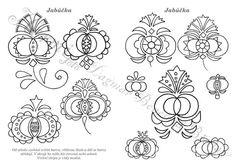 Omalovánky ornamentů z Podluží 1. pracovní sešit z Lanžhota Creative Embroidery, Folk Embroidery, Pattern Coloring Pages, Flower Template, Flower Patterns, Art Patterns, Art Furniture, Beautiful Patterns, Art Techniques