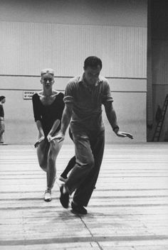 Not originally published in LIFE. Gene Kelly rehearses with ballerina Claude Bessy, Paris, 1960.