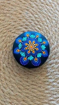 Etsy Artist, boho art, stone painting, rock painting Mandala Art, Mandala Rocks, Mandala Painting, Dot Painting, Stone Painting, Painted Rocks, Hand Painted, Creative Crafts, Kids Crafts