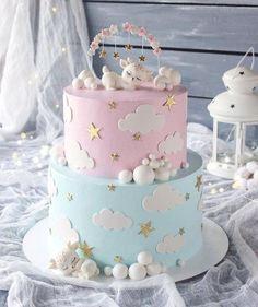 Torta Baby Shower, Tortas Baby Shower Niña, Baby Shower Fun, Baby Shower Cake For Girls, Baby Reveal Cakes, Baby Gender Reveal Party, Gender Reveal Cakes, Baby Birthday Cakes, Baby Girl Cakes