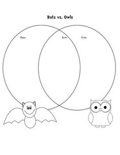 Nocturnal Animal Free Preview from Fun and Fancy Free in First Grade on TeachersNotebook.com - (1 page) - This venn diagram is just one of 5 informational writing activities for Nocturnal Animals. If you like this one check out the rest of packet that has 4 additional organizers and 1 math review game and one sight word game. Cats, Bats, and Owls~ Very CUTE!