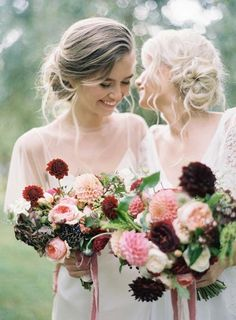 November Wedding Bouquet Bridal Bouquets Fall Flowers Arrangements, dahlias, roses, peonies, pink, red