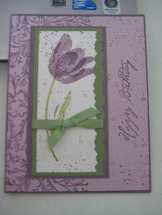 Birthday card kit made with stampin up products with envelopes