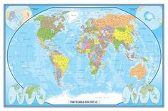 The Swiftmaps World Classic Executive wall map is one of the most popular wall maps in print today. This is a very popular map in the business sector