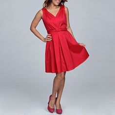 @Overstock - With a perfectly pleated skirt, this incredible dress from Spense offers a fashionable look. A belted waist and V-neck finish this fully lined dress.http://www.overstock.com/Clothing-Shoes/Spense-Womens-Pink-V-neck-Belted-Dress/6448605/product.html?CID=214117 $32.99