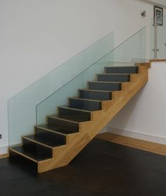 Our showroom steps covered in luxury leather. They're hard wearing and age beautifully www.element7.co.uk