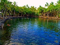 Ahalanui Hot Pond, Puna Hawaii: Photo by Donnie MacGowan