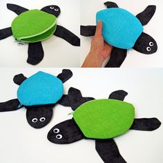 Sea Turtle Pouch by MinneBites / Leatherback Turtle by minnebites