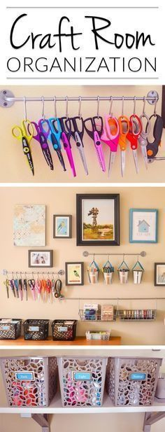Kallax craft storage Oh! Craft Room Organizing & Storage ideas that would actually work in the corner of our guest room. LOVE that I could see what I have without packing everything away. My craft stuff would actually look good organized on the wall!
